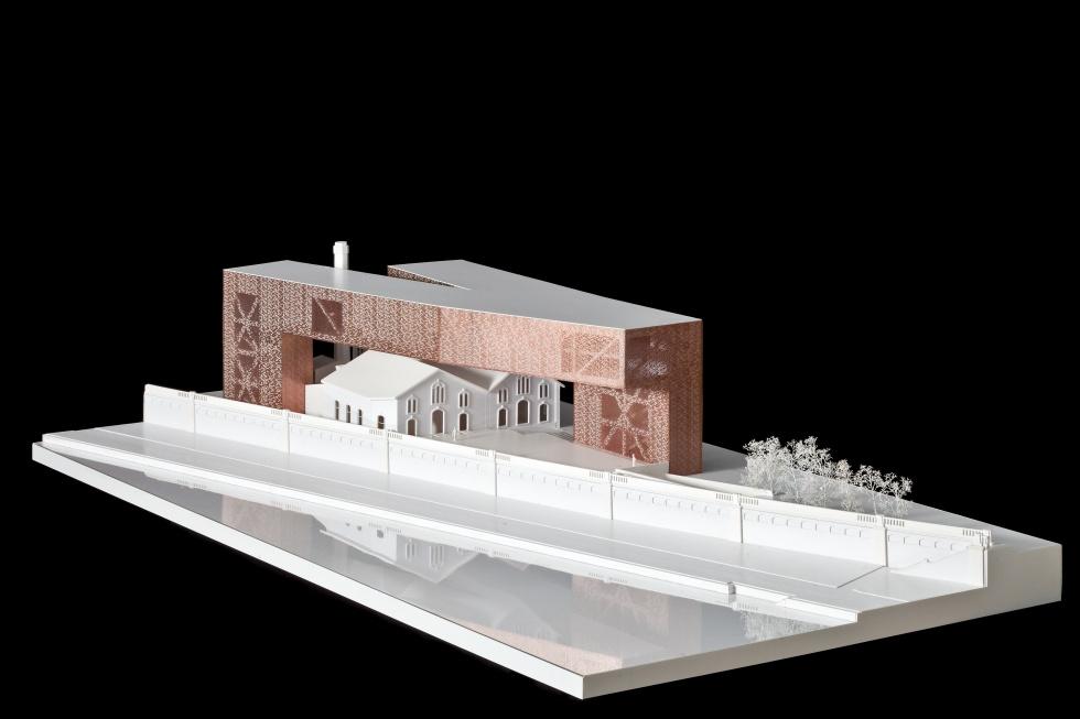 Makieta nowej siedziby Cricoteki i Muzeum Tadeusza Kantora w Krakowie