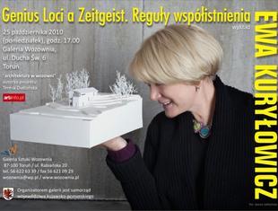 """Prof. Ewa Kuryłowicz """"Genius Loci a Zeitgeist. Reguły współistnienia"""""""